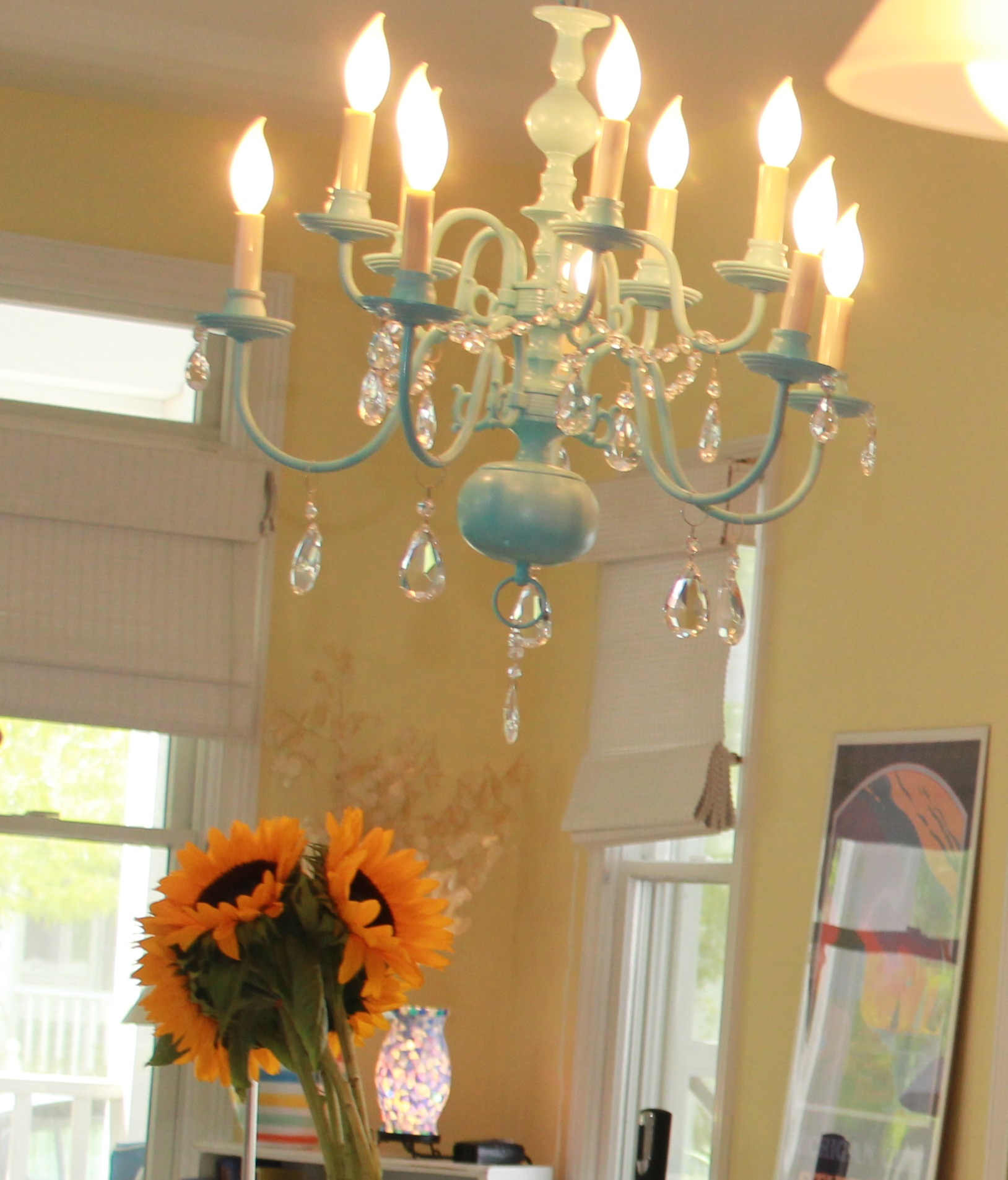 Make a chandelier look expensive on the cheap the artesian project diy chandelier for 30 how to tips on httpstheartesianproject arubaitofo Gallery
