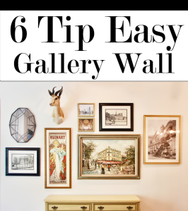 6 Tips for an Easy Gallery Wall | The Artesian Project | www.theartesianproject.com