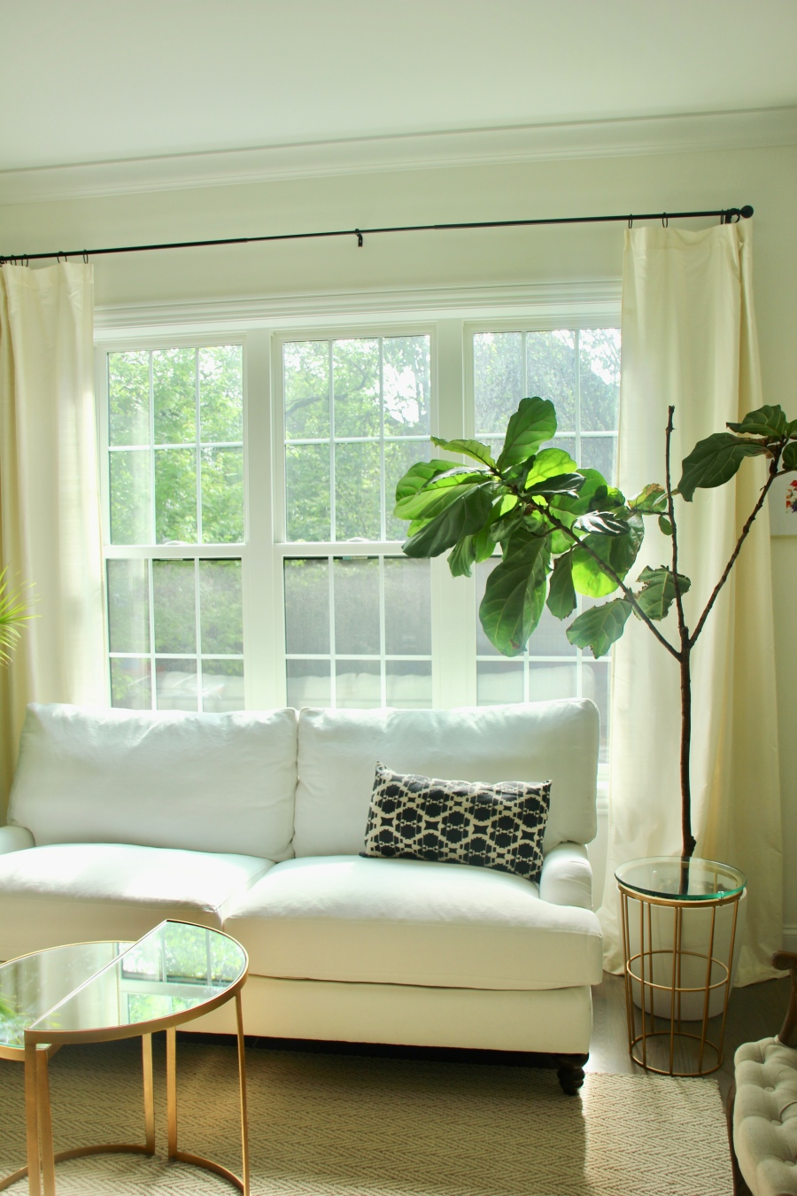 The Artesian Project Neutral Living Room white couch windows sofa