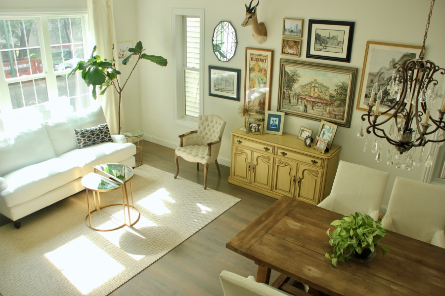 living room neutral white couch sofa front window drapes birch lane montgomery sofa