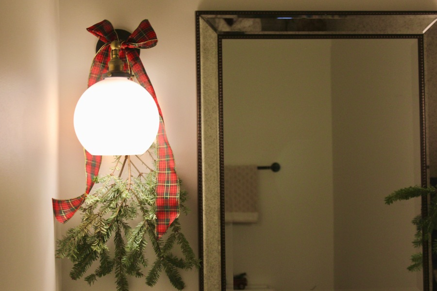 Artesian Designs | Holiday ...Powder Room Swag