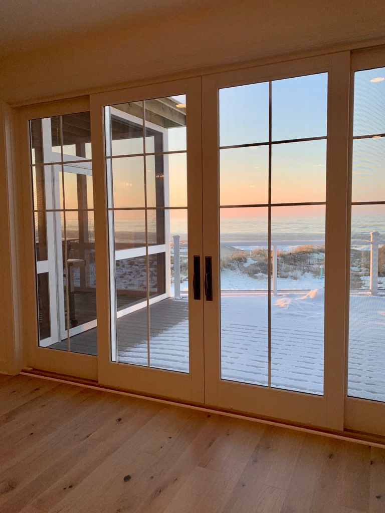 Artesian Designs | #csideproject Beach house with Marvin Ultimate Sliding Patio Doors window wall